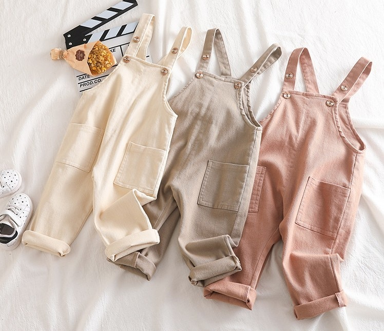 Nuevo 2019 otoño bebé niños niñas en general 80-100cm altura niños pantalones 1 pieza bebé niña romper bebé pantalón para niños en general