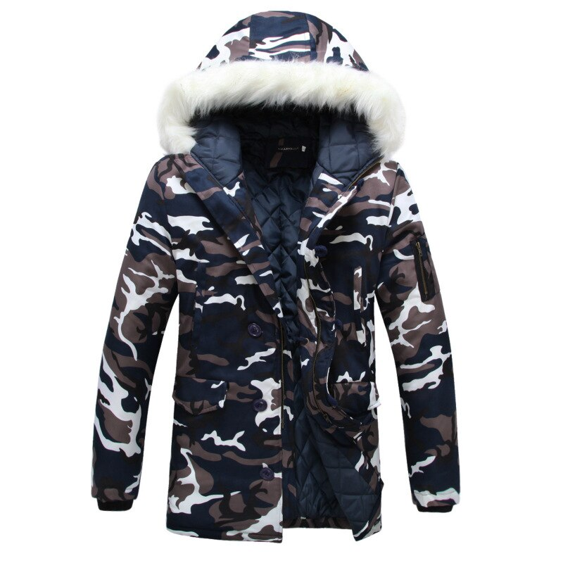 Chaqueta de invierno para hombre 2019 gran oferta ejército de camuflaje abrigo grueso cálido abrigo Parka para hombre Parkas con capucha de moda para hombre S-5XL de talla grande