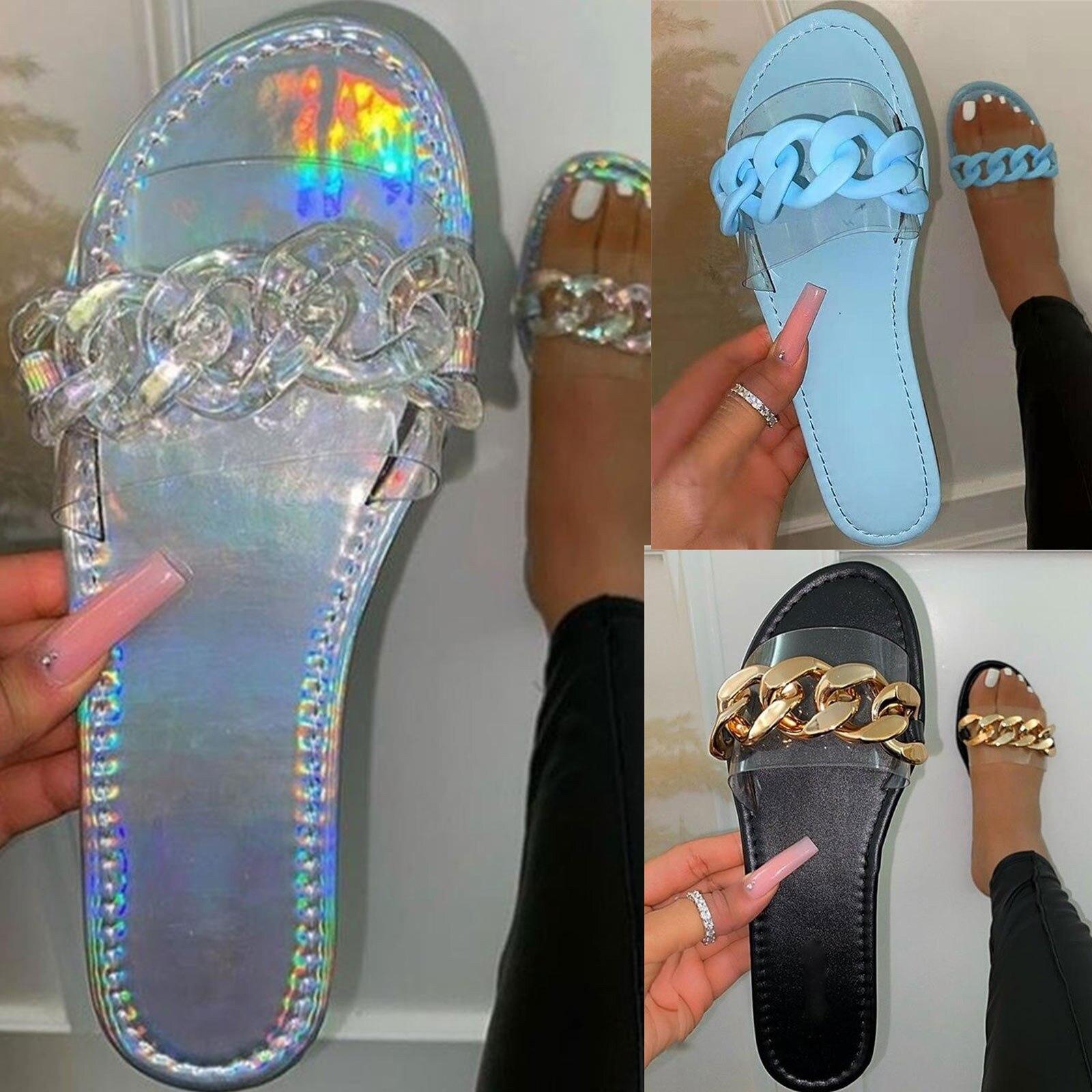 Summer Women Fashion Multicolour Slippers Flat Sandals Beach Home Shoes women sandals chaussure femm