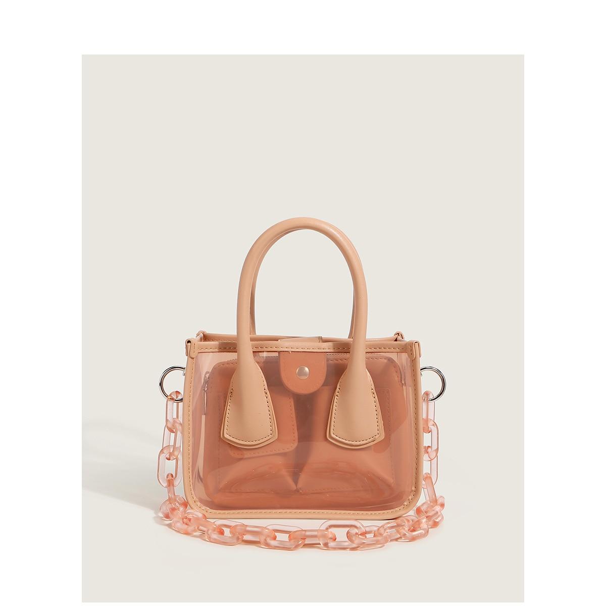 حقيبة الإناث 2021 صيف جديد الاكريليك سلسلة حقيبة الكتف حقيبة ساعي ck صغيرة شفافة المحمولة الأم والطفل حقيبة الإناث