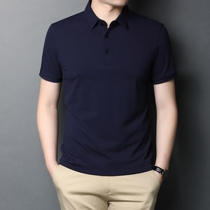 New Arrival Men Summer Business Casual Polo Shirt Males Solid Color Slim Polo Shirts Short Sleeve