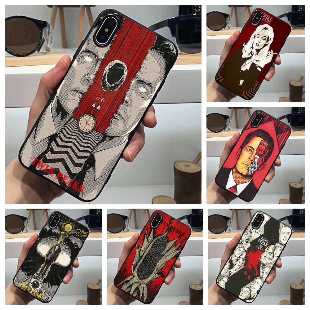 Funda de teléfono Twin Peaks, Funda clásica americana de silicona negra Sotf TPU para iphone 11Pro MAX 6 6s 7 8plus 5s 5 X XS XR XSMax