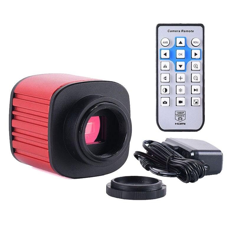 16MP HDMI cámara Digital Industrial microscopio USB ocular electrónico integrado en línea cruzada tarjeta TF