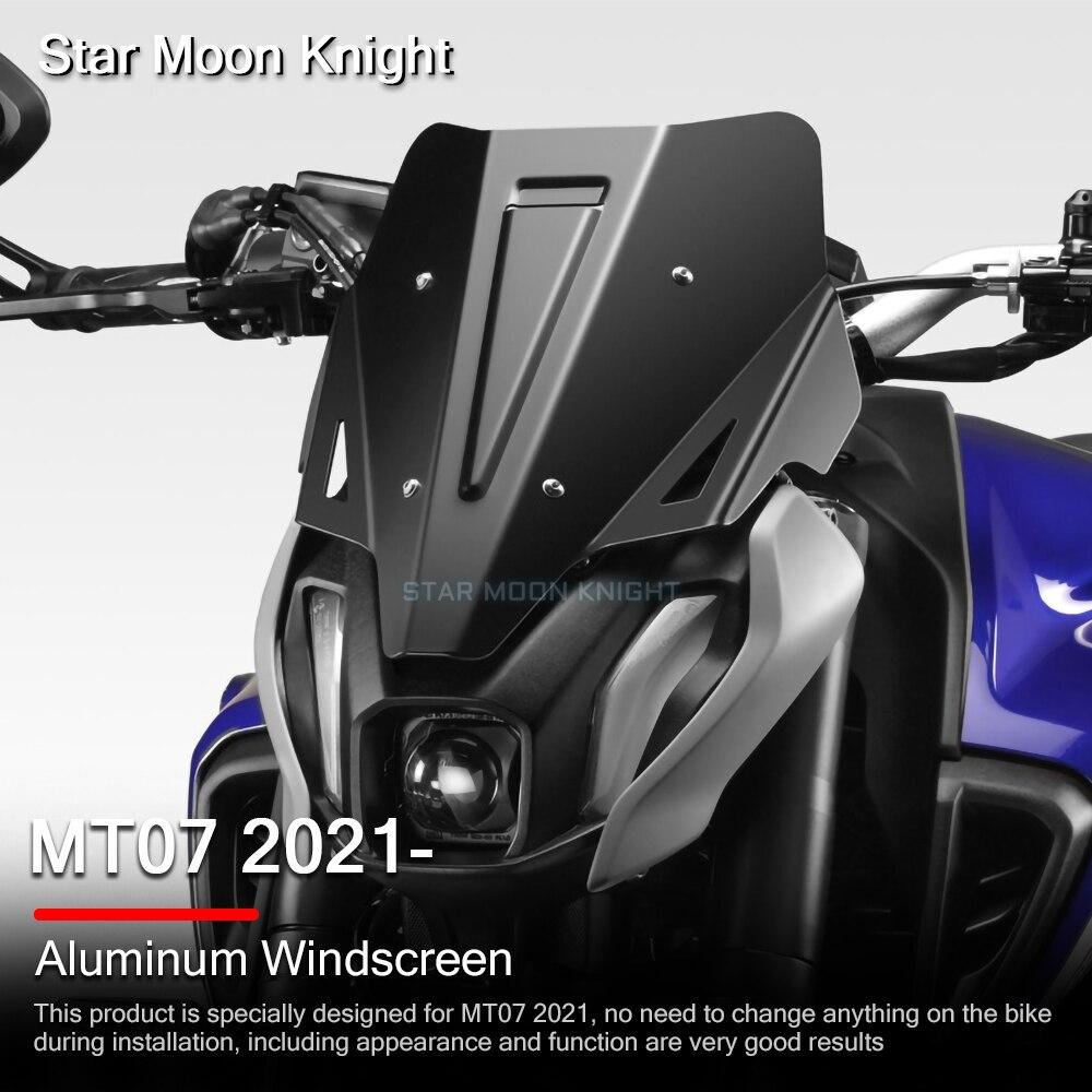 اكسسوارات الدراجات النارية الزجاج الأمامي الرياح درع منحرف صالح لياماها MT07 MT-07 MT 07 2021-MT-07