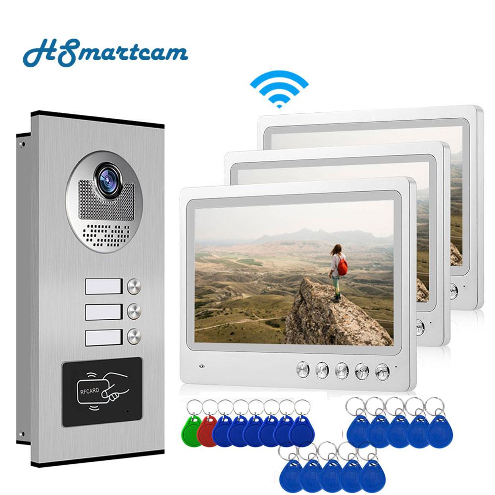 APP Video Intercom 9 Inch Wifi Video Door Bell Intercom System with 2-3 Family Multi nits Apartment Video Door Phone Intercom