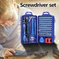 Multi-function 117 in 1 Screwdriver Set for Phone Clock Maintenance Repair Tools Extension Rod Design Increase Torque Handy