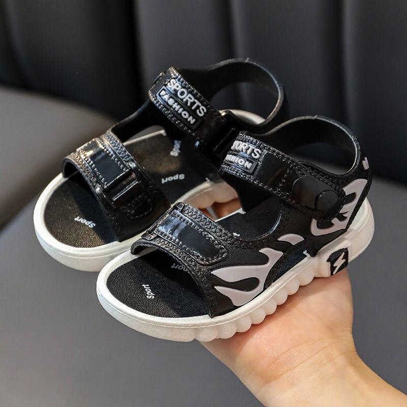 Детские летние сандалии для мальчиков и девочек, школьные сандалии с мягкой подошвой, детские Нескользящие сандалии, сандалии для маленьки... сандалии saivvila saivvila mp002xw0e570