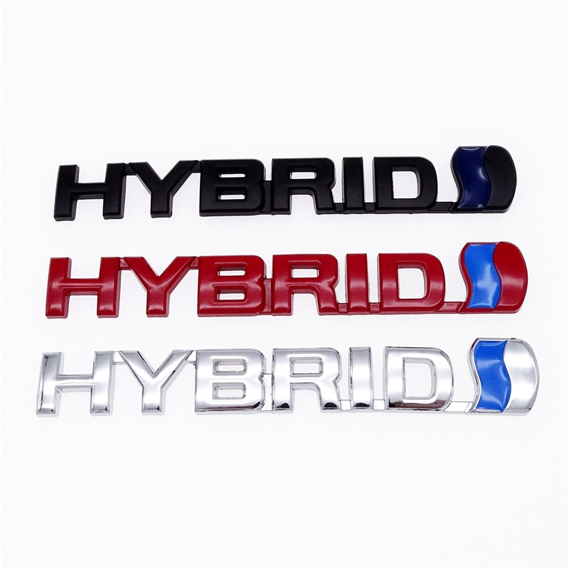 3 Styles 3D HYBRID Car Logo Stickers Refitting Metal Emblem Badge Decal Auto Accessories For Toyota Prius Camry Crown Auris Rav4
