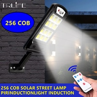 256 COB лампа на солнечной энергии Солнечный уличный светильник уличный безопасности светильник Настенный светильник Водонепроницаемый движ...