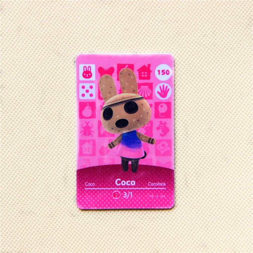 Animal Crossing nuevo horizonte para Amiibo-tarjetas populares villager Coco150 Ntag215 aplicar a NS switch tarjetas estándar tamaño 86mm x 54mm
