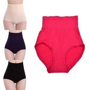 Fashion Ladies Pure Cutton Slim Tummy Knickers Pants Underwear Women Solid High Waist Brief Girdle Body Shaper New Underwear
