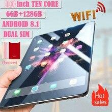 2020 nouveau WiFi Android tablette PC 10 pouces dix Core 6G + 128G 1280*800 IPS écran avec 4G téléphone appel tablette Buletooth tablette cadeaux