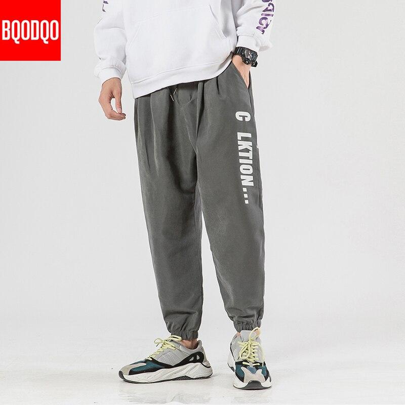 Casual corredores harem pantalones hombres carta de impresión Hip Hop otoño pantalones Khaki masculino ropa de calle de gran tamaño pantalones de chándal