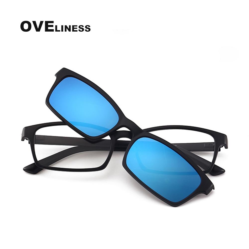 Gafas ópticas, gafas polarizadas magnéticas con Clip para miopía, gafas graduadas con montura, gafas de sol con imán de Mujeres para Hombres