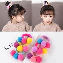 fashion colorful candy spherical elastic hair band girl cute hair rope elastic rubber band hair ring hair accessories headdress