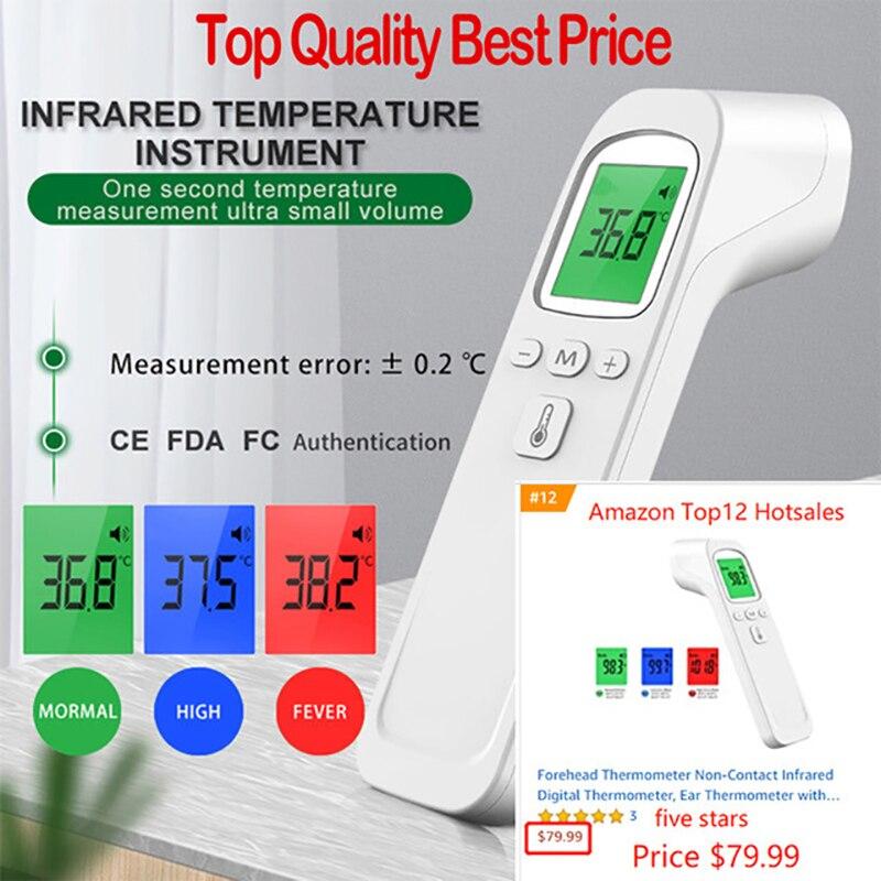 Инфракрасный термометр цифровой Бесконтактный ИК для измерения температуры тела с сигналом о повышении температуры, лазерный пирометр