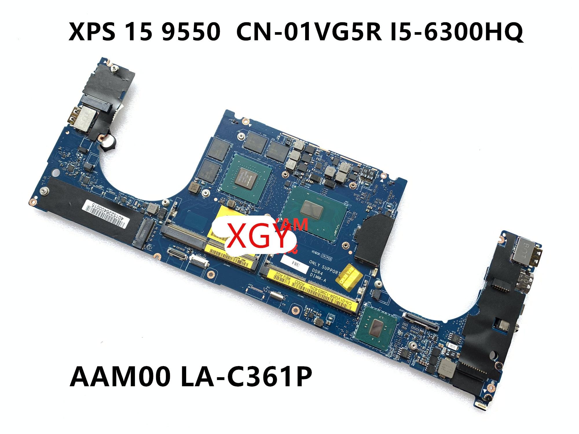 Para DELL XPS 15 9550 placa base AAM00 LA-C361P 1VG5R I5-6300 100% prueba ok