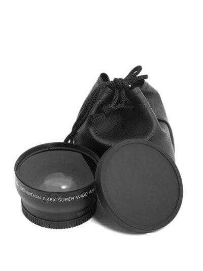 Широкоугольный макрообъектив 0,45x49 мм 52 мм 55 мм, широкоугольный объектив для камеры Canon EOS, Nikon, аксессуары для объектива Sony