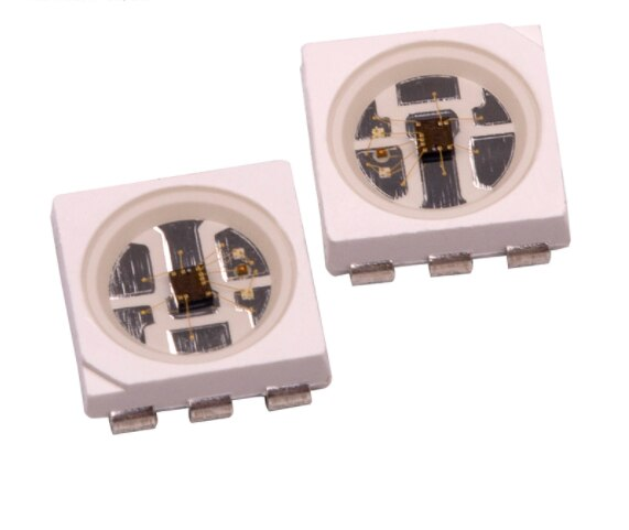 SK9822-A(Similar APA102) HD107S Chip LED 5050 RGB 2020 inteligente integrado de Control de la fuente de luz LED APA107S Chip + 27 kHz PWM