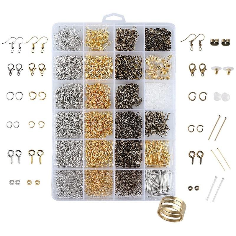 2880 Pcs Jewelry Survey Results Jewellery Making Starter Kit Jewelry Beads, Open Jumper, Lobster Clasp