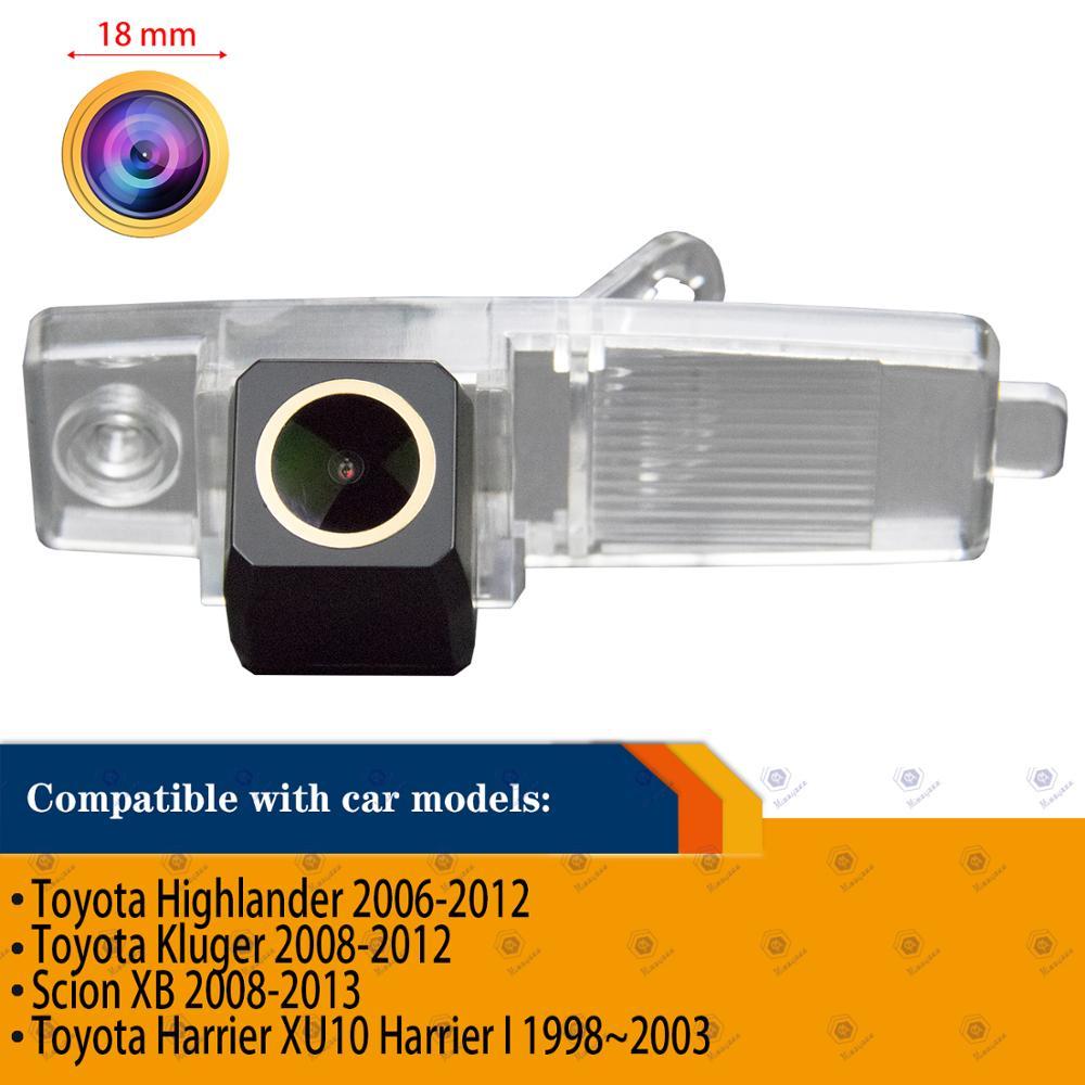 HD 1280x720p de la cámara de visión trasera cámara de marcha atrás de respaldo para Toyota Highlander/Hover G3/Coolbear/Hiace/Kluger/Lexus RX300