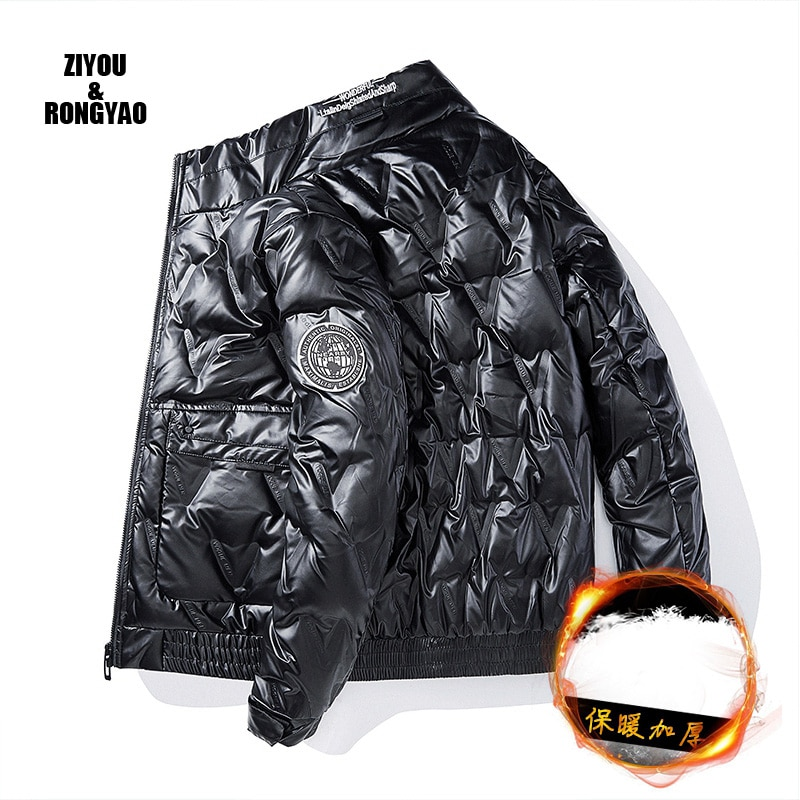 Winter Men's Jackets Fashion Men Cotton Down Warm Parkas Coats Casual Outdwear Thermal Stand Collar