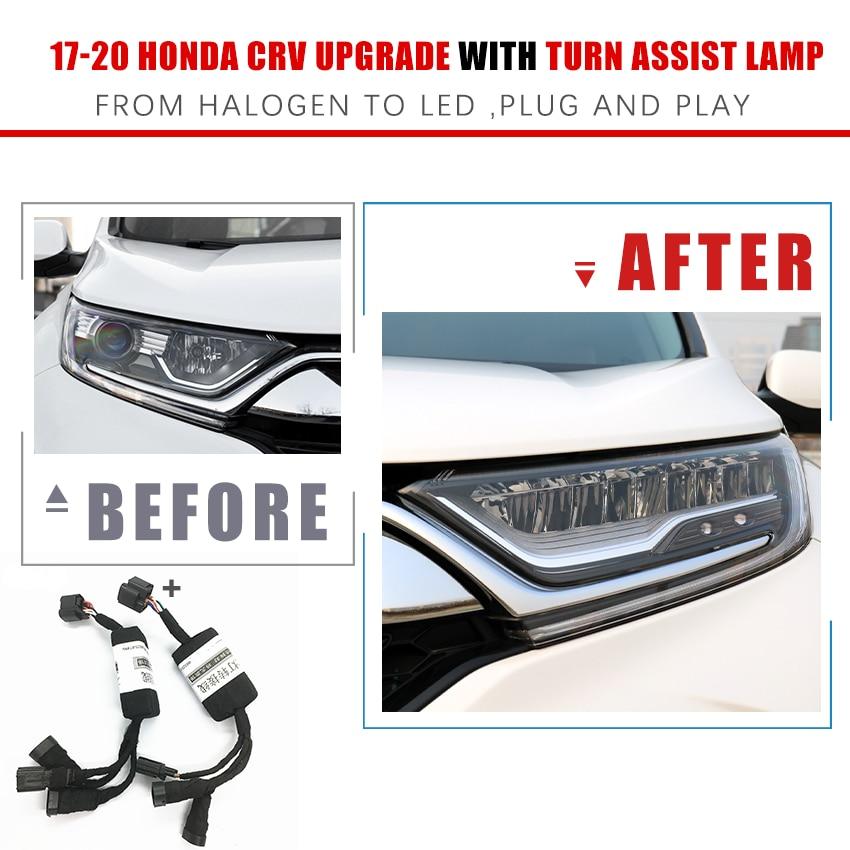 Автомобильные фары Модификация апгрейд передачи адаптер для проводки проводка кабеля для 17-20 Хонда сrv с & без включить вспомогательная ламп...