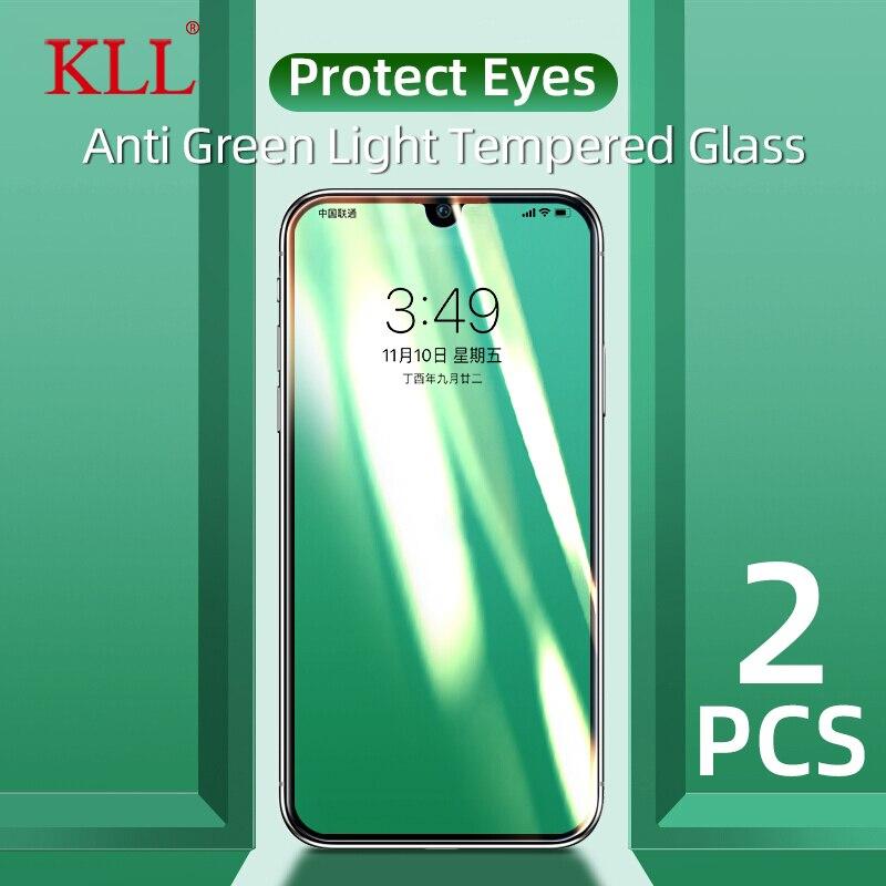 Protetores de tela protetora completa para oppo reno 2 2z 2f 10x zoom luz verde vidro temperado para reamle 3 5 pro x lite x2 vidro