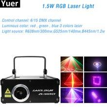 1.5W rvb lumière Laser DJ Disco lumière 267 effet Laser DMX 512 contrôle partie Club Laser projecteur scène Laser lumière spectacle équipement