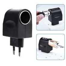 1 Pcs Car Cigarette Lighter Power Socket 220V AC To DC 12V EU Car Car Cigarette Lighter Power Adapter Converter Household Auto