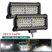 4Row144W светильник бар/рабочий светильник Точечный светильник светодиодный светильник для грузовика вождения Offroad Лодка автомобиль тягач 4x4 внедорожник ATV 12V 24V