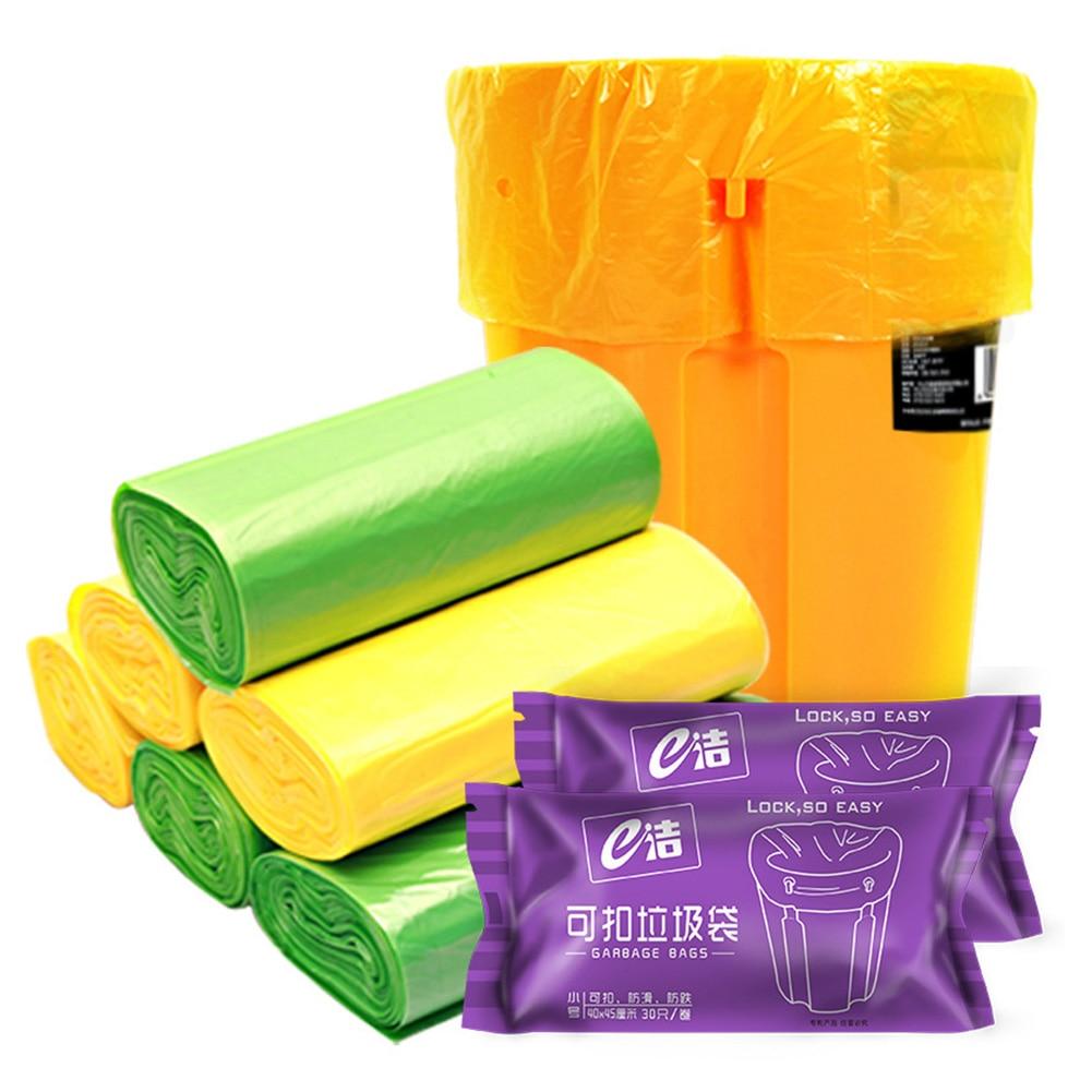 Bolsa de basura cocina portátil de 30 uds/volumen, bolsa de basura, bolsas de basura, bolsa de Color al azar