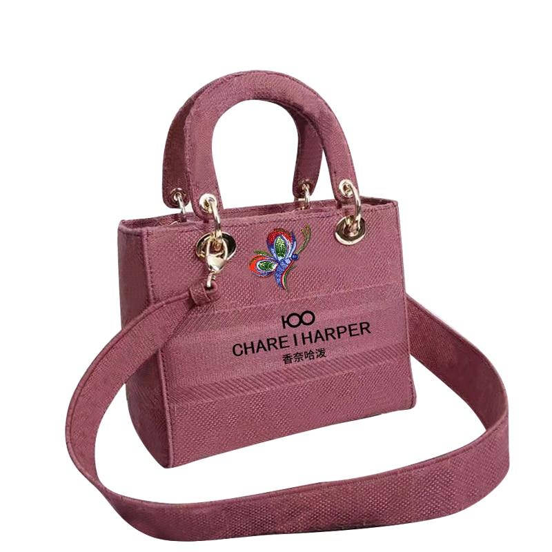 France charei100 2021 new tote bag lady chain bag multi-functional lady shoulder bag, high density canvas handbag