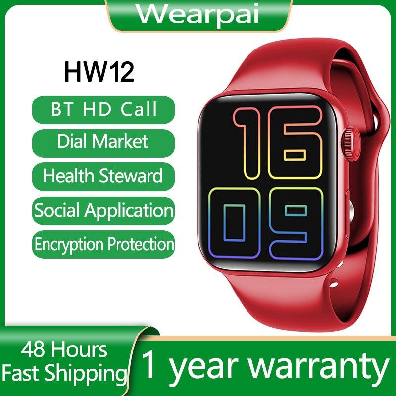 IWO HW12 HW16 ساعة ذكية series e6 شاشة كاملة اللياقة البدنية بالبلوتوث الفرقة دعوة الموسيقى لعب الرجال النساء الرياضة Smartwatch PK IWO 13 W46 W66