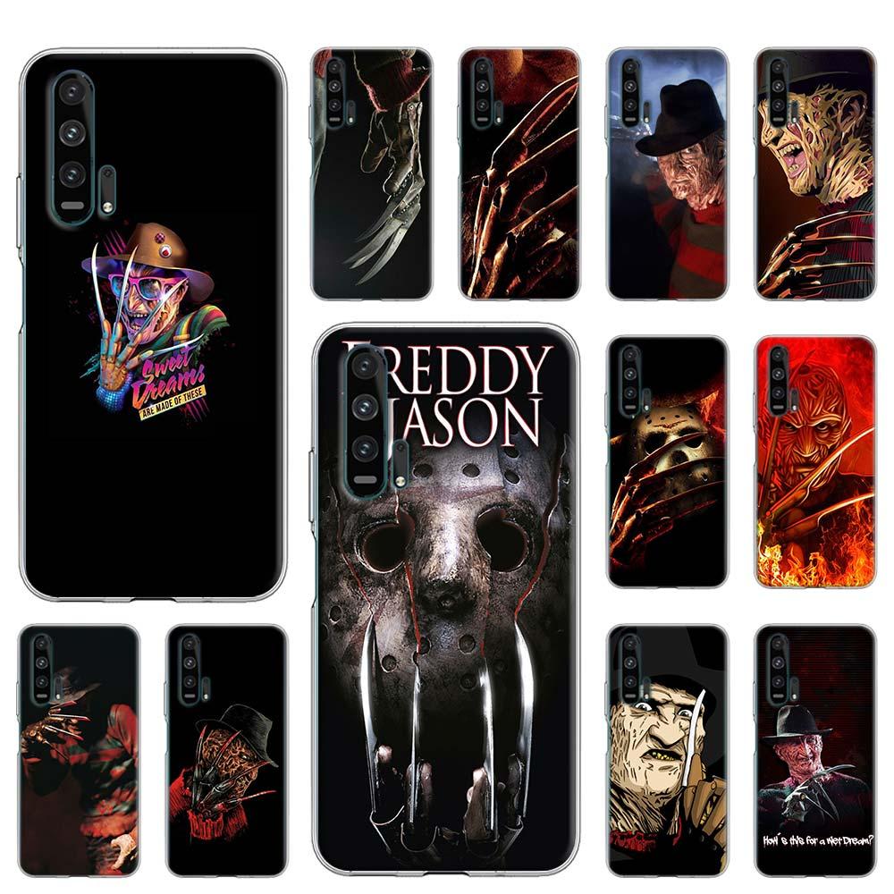 Cubierta de la caja para Huawei Y5p Y6p Y7p Y8p Y8s Y9s Y6 Y7 Y9 Honor 9A 8S 9C 10i 10 20 Lite Pro Coque cae de Freddy Krueger