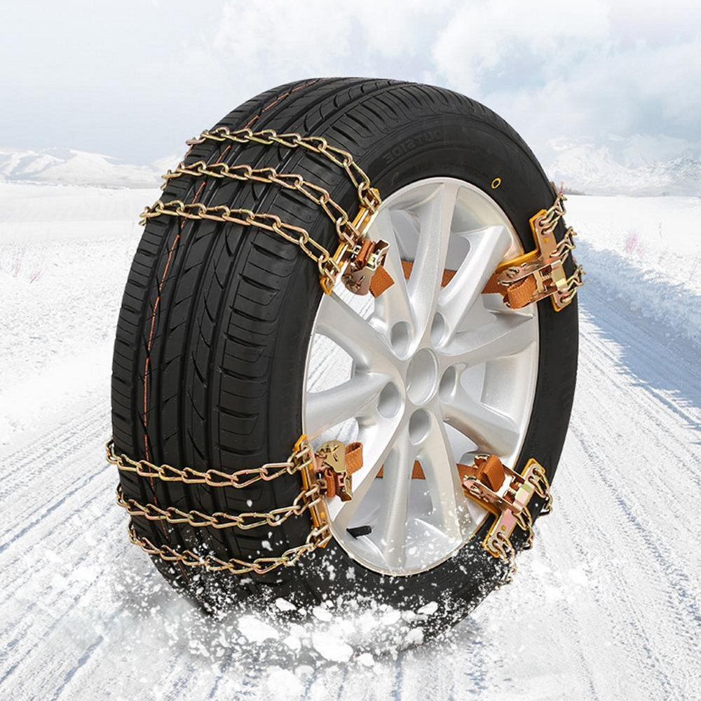 Car Snow Wheel Chains Winter Anti-skid chain Roadway Safety Tire Protector Anti-slip Adjustable For Car SUV Truck Accessories