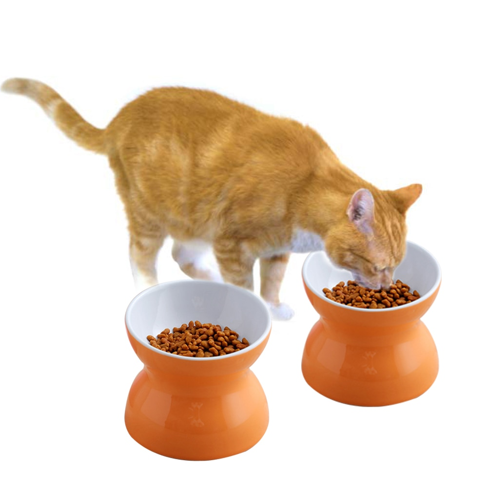 Bebedero redondo colorido plato de comida fácil de limpiar cuenco para gatos alimentador de Alimentación de Mascotas alimentador de agua para cachorros estable de cerámica suministros para perros