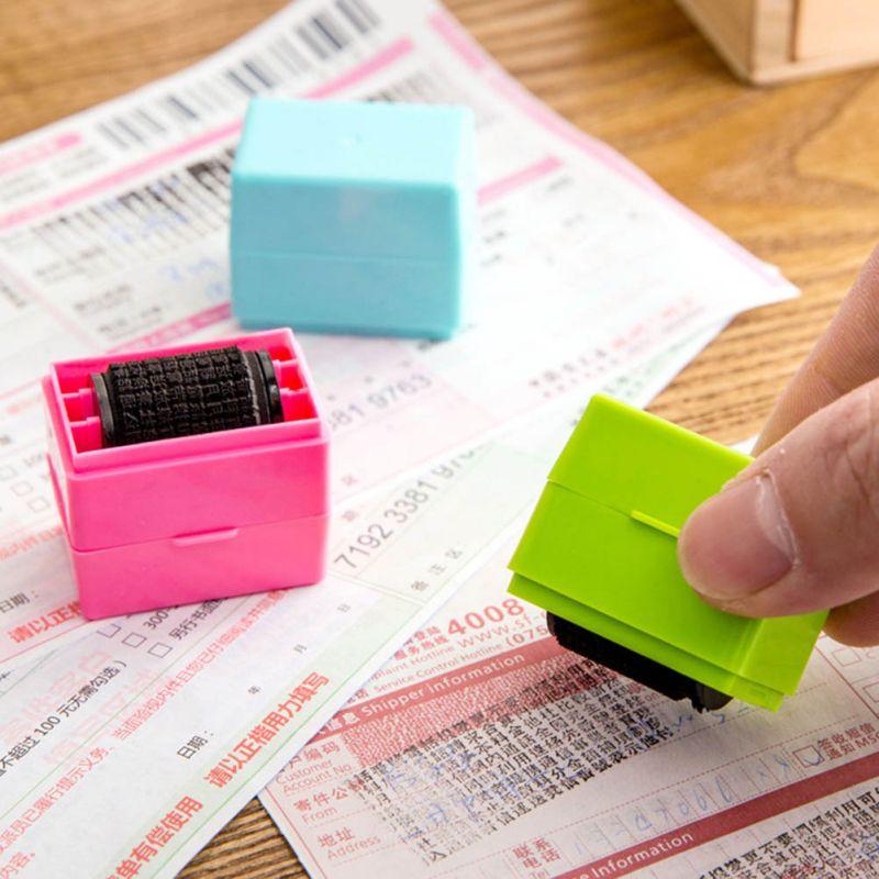 1 ud., sello de Cobertura automática de rodillos, sellos para confidencial Express, código de identidad, información de privacidad, protección antirrobo