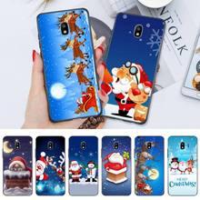 Christmas Santa Reindeer Tree Phone Case For Samsung S6 S7 Edge S8 S9 S10E S20 S21 S30 Plus ULTRA Fu