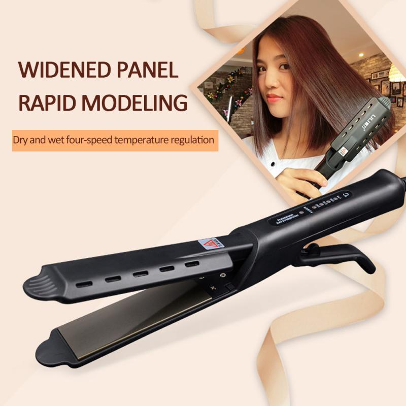 Profissional vapor alisador de cabelo vapor cabelo liso ferro costura cabelo alisamento ferro curler vapor ferramenta estilo do cabelo