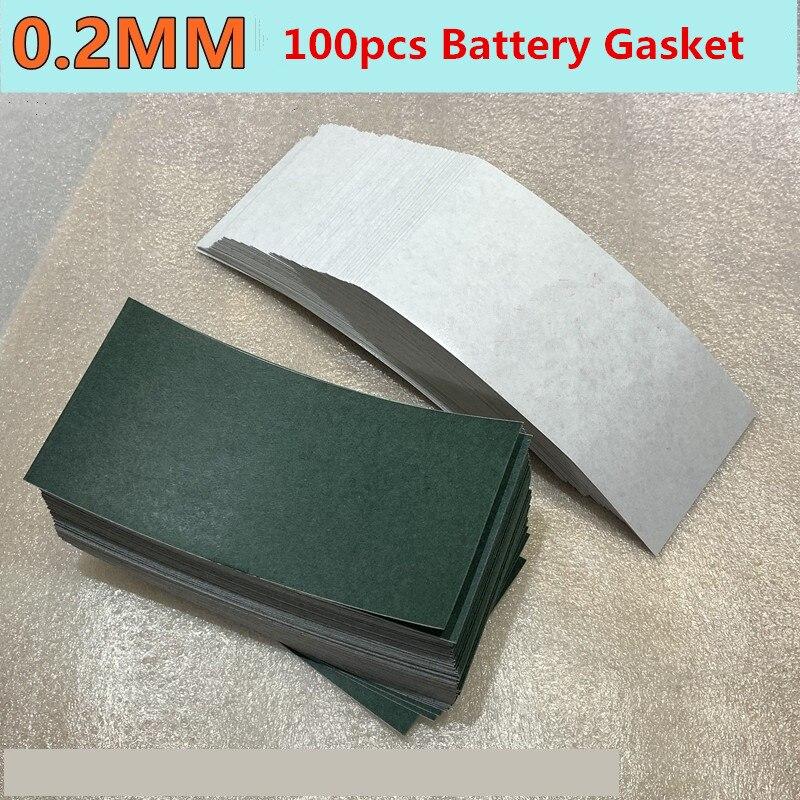 100 piezas de papel de cebada 0,2mm grueso 18650/32650 paquete de baterías junta de aislamiento máquina de soldadura por puntos accesorios de soldadura por batería