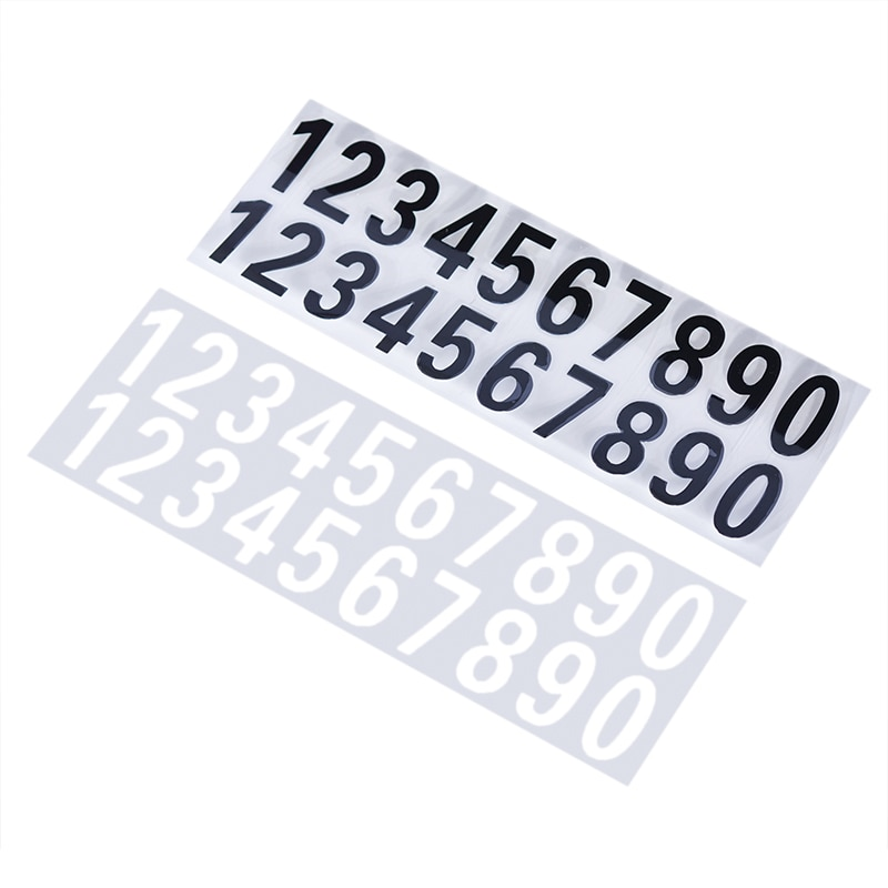 AliExpress - Car or House Door Street Address Mailbox Number Digits Numeral Car Room Gate Vinyl Decal Reflective Stickers White Black Sticker