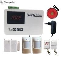 Systeme dalarme de securite domestique sans fil  Gsm Sms  ecran tactile  avec detecteur de mouvement  Kit de bricolage  livraison gratuite