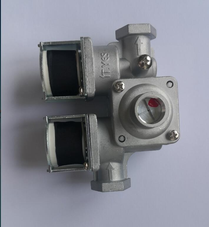 DC24V CSV-T2422B2 piezas para horno de Gas válvula de solenoide doble con función de regulación