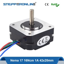 Kurzen Körper Nema17 Stepper Motor 20mm 16Ncm 1A Nema 17 Schritt Motor 42 Motor 4-blei 17HS08-1004S für DIY CNC 3D Drucker
