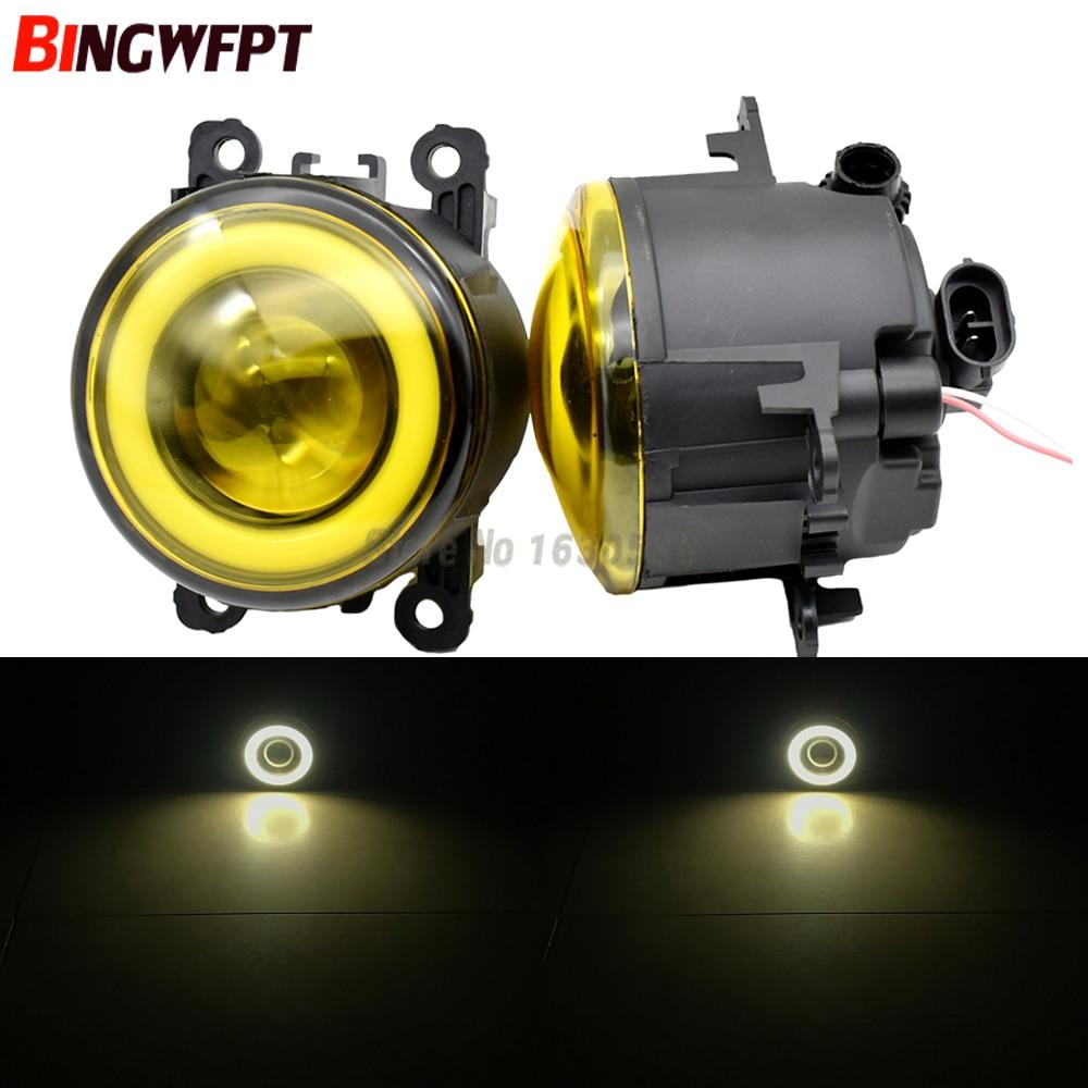2PCS LED fog light with Lens For Focus MK2 MK3 for TRANSIT TOURNEO TRANSIT CUSTOM FOCUS MK2/3 Platform Chassis FUSION