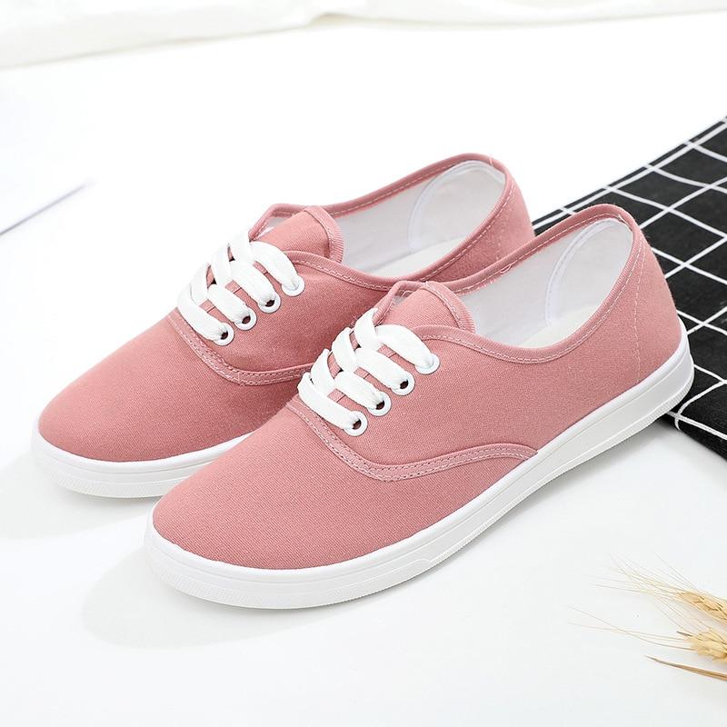 حذاء موكاسين نسائي من القماش الكتاني ، حذاء كاجوال مسامي بأربطة ، لون سادة ، مقاس 35-41 ، خريف 2020