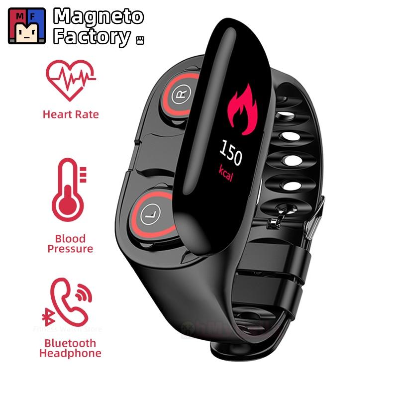 Reloj inteligente M1, Monitor de pulso cardíaco, auricular Bluetooth, Monitor de Fitness, presión arterial, Smartwatch para IOS, teléfono Android, SportWatch