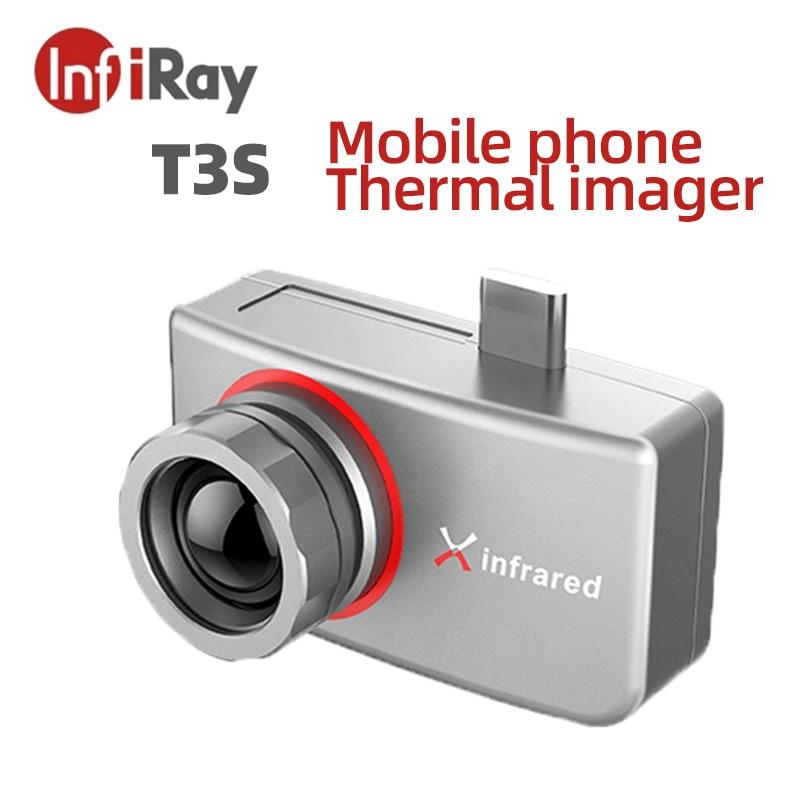 InfiRay-كاميرا تصوير حراري بالأشعة تحت الحمراء T3S ، هاتف ذكي ، رؤية ليلية ، صيد ، اكتشاف فقدان الحرارة ، تلف في الماء