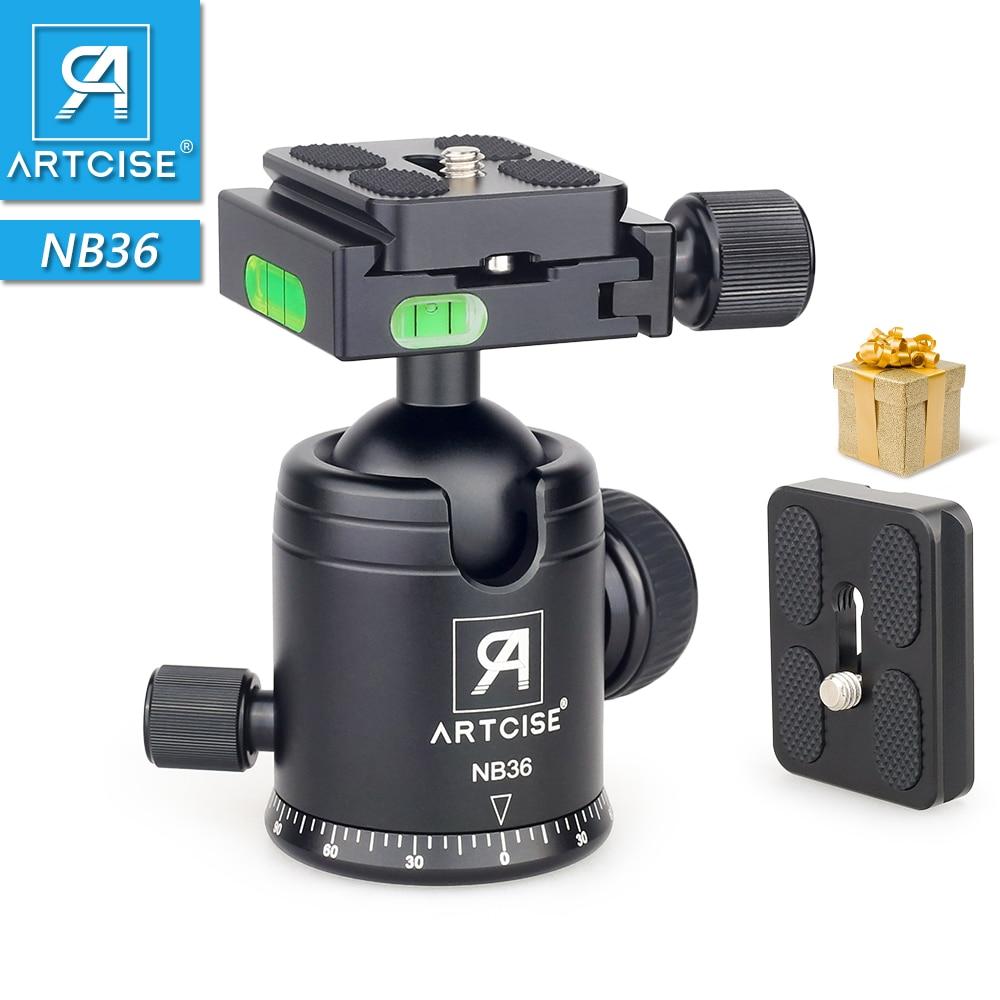 ARTCISE NB36 ترايبود رئيس كرة ثلاثية بانورامية رئيس نك بأكسيد Ballhead للكاميرا دسلر اضافية سريعة الإصدار لوحة كهدية